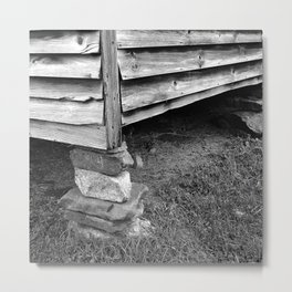 Vintage Black And White Structure Metal Print