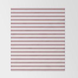 Dark Red Pear Mattress Ticking Wide Striped Pattern - Fall Fashion 2018 Throw Blanket