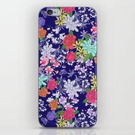 Blue Floral iPhone Skin