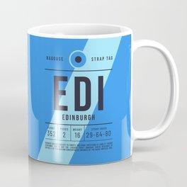 Baggage Tag E - EDI Edinburgh Scotland Coffee Mug