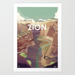 Alone in nature - Zion - Utah Art Print
