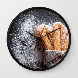churros Wall Clock