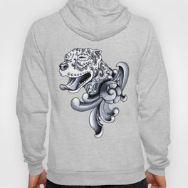 Ornamental Pit Bull - Black and Grey Filigree Pitbull Hoody