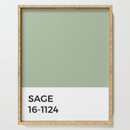 Sage Pantone Chip • Green • Earth Tones • Natural • Nature • Modernist Design • Minimalism • Simple Serving Tray