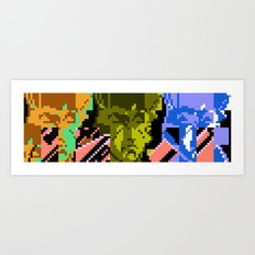 Three Double Crossers Art Print