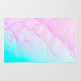 Pastel Motion Vibes - Pink & Turquoise #abstractart #homedecor Rug