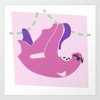 sloths Art Prints featuring Sloths by Fandango089