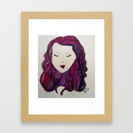 Smirking Girl  Framed Art Print