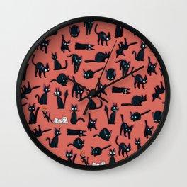 Jiji black cat kawaii Wall Clock