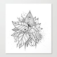 all seeing eye Canvas Prints featuring All Seeing Eye by R. Gilbert