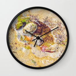 Low Tide Beach photography Wall Clock