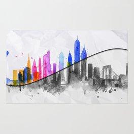 Color New York Skyline 06 Rug