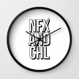 Netflix and chill Wall Clock