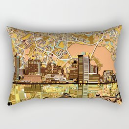 baltimore city skyline orange Rectangular Pillow
