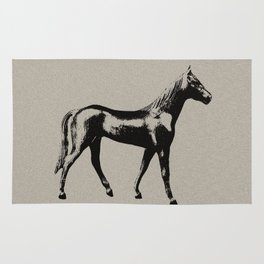 Old Wooden Horse Rug