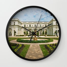 Newport Mansions, Rhode Island - Rosecliff - Original Great Gatsby Mansion by Jeanpaul Ferro Wall Clock