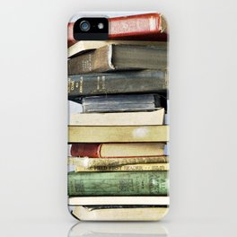 Stacked Vintage Books iPhone Case