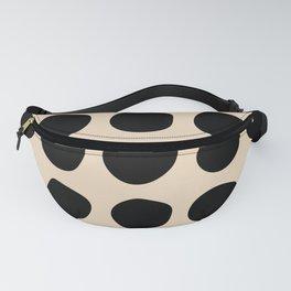 Irregular Polka Dots black and cream Fanny Pack