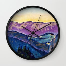 Koloman Moser - View of the Rax - Digital Remastered Edition Wall Clock