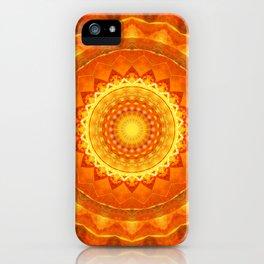 Mandala orange light iPhone Case