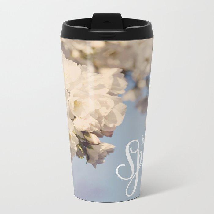 Hello Spring Metal Travel Mug