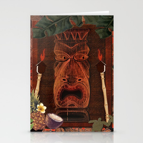 Tiki Party Stationery Cards