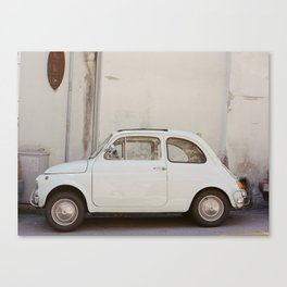 Fiat in Positano (on film) Canvas Print