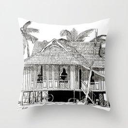 Rumah Kampung (Large) Throw Pillow