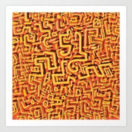 Squiggletown Sunstroke Art Print