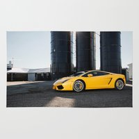 lamborghini Area & Throw Rugs featuring Lamborghini by Speed-Photos