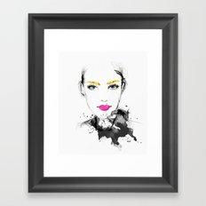 The Golden Girl Framed Art Print