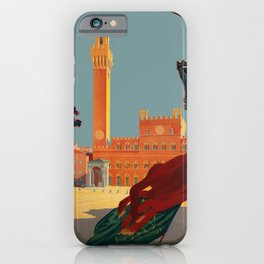 Tuscany - Siena Italy - Vintage Travel iPhone Case