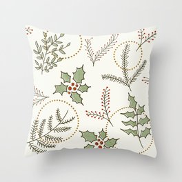 Classic Winter #society6 #xmas Throw Pillow