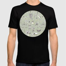 Witchcraft Pattern Mens Fitted Tee Black MEDIUM