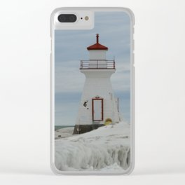 Frozen Lighthouse Clear iPhone Case