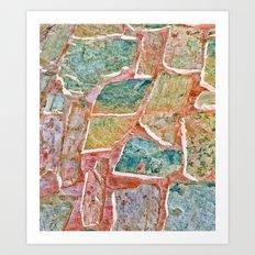 Traumatic Surface #society6 #decor #pattern Art Print