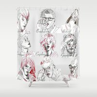 les miserables Shower Curtains featuring Les Amis by Pruoviare