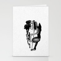 delorean Stationery Cards featuring DeLorean / BW by CranioDsgn