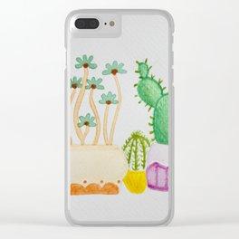 Cactus Squad Goals Clear iPhone Case