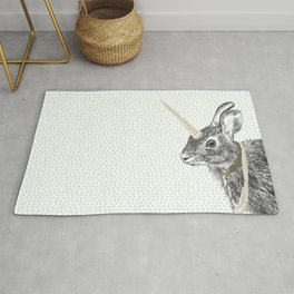 uni-hare All animals are magical Rug