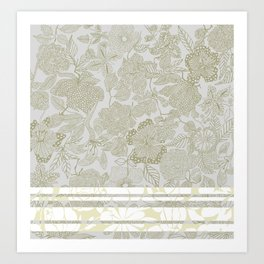 Ornate Floral Tope Art Print