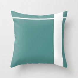 Teal Stripe (1) Throw Pillow