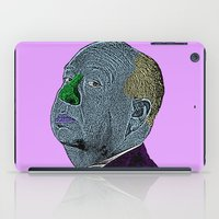 hitchcock iPad Cases featuring Alfred Hitchcock by CultureCloth