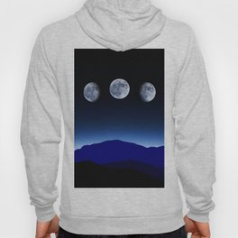 Moon Phases #blue Hoody
