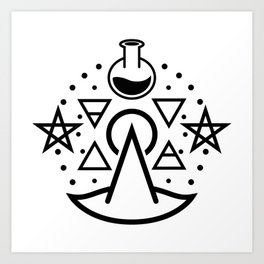 Witchy Business ~ Black Art Print