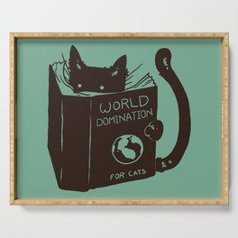 World Domination for Cats (Green) Serving Tray