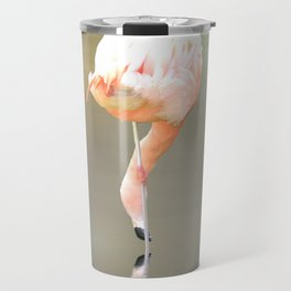 Feathered in pink Travel Mug