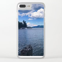 Lake George - view 4 Clear iPhone Case