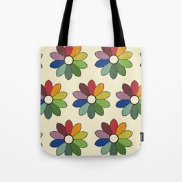 Flower pattern based on James Ward's Chromatic Circle Tote Bag