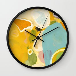 sunshine fall garden leaves Wall Clock